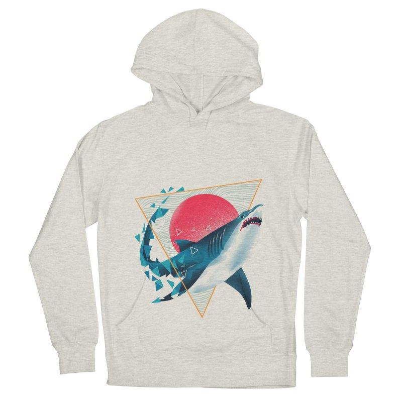 Geometric Shark Women's French Terry Pullover Hoody by dandingeroz's Artist Shop