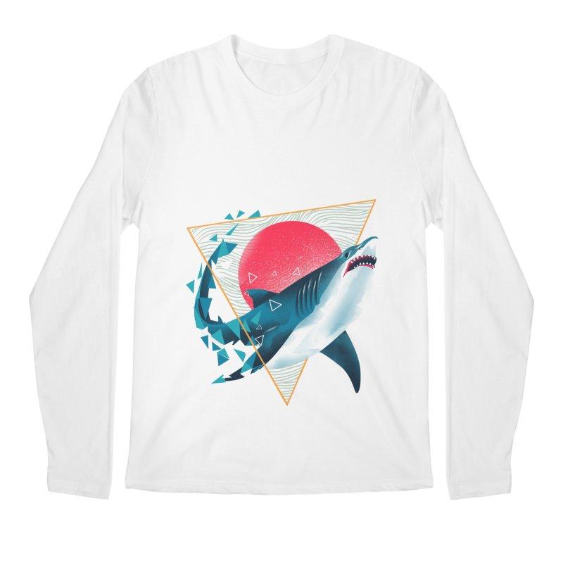 Geometric Shark Men's Regular Longsleeve T-Shirt by dandingeroz's Artist Shop