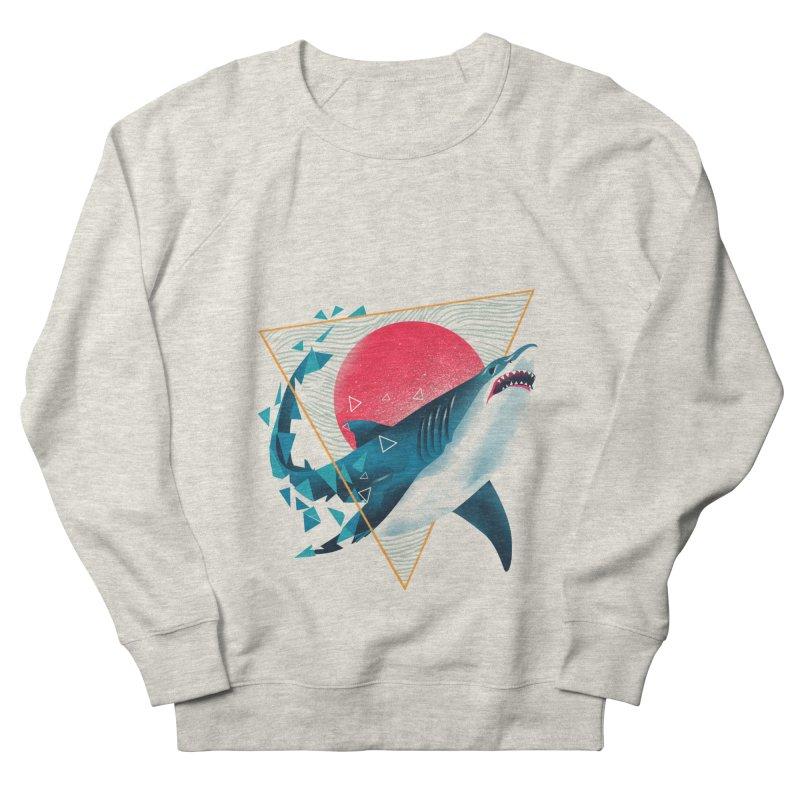 Geometric Shark Men's French Terry Sweatshirt by dandingeroz's Artist Shop