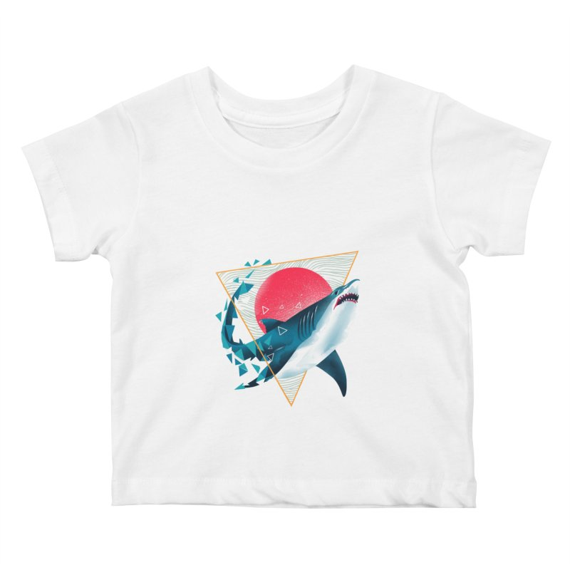 Geometric Shark Kids Baby T-Shirt by dandingeroz's Artist Shop