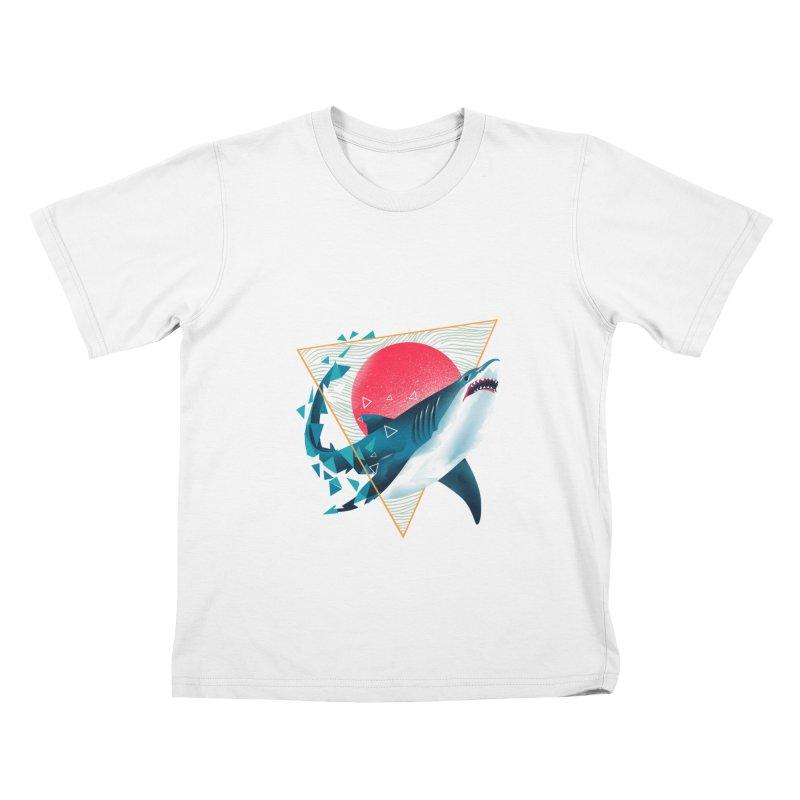 Geometric Shark Kids T-Shirt by dandingeroz's Artist Shop
