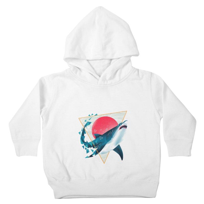 Geometric Shark Kids Toddler Pullover Hoody by dandingeroz's Artist Shop