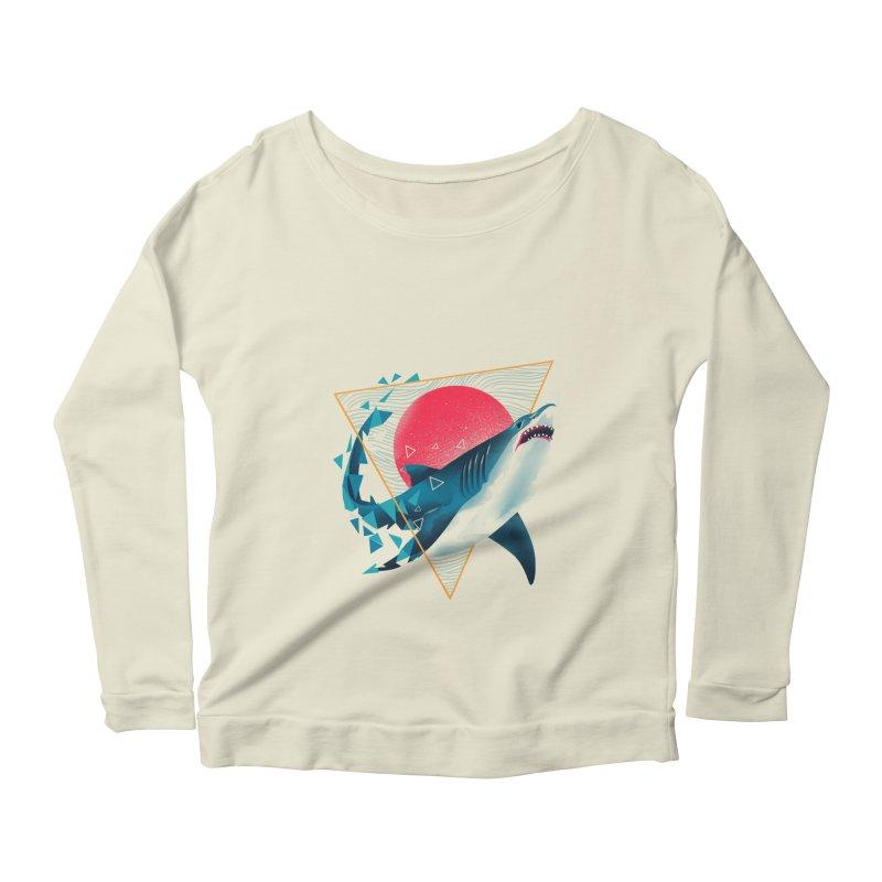 Geometric Shark Women's Scoop Neck Longsleeve T-Shirt by dandingeroz's Artist Shop