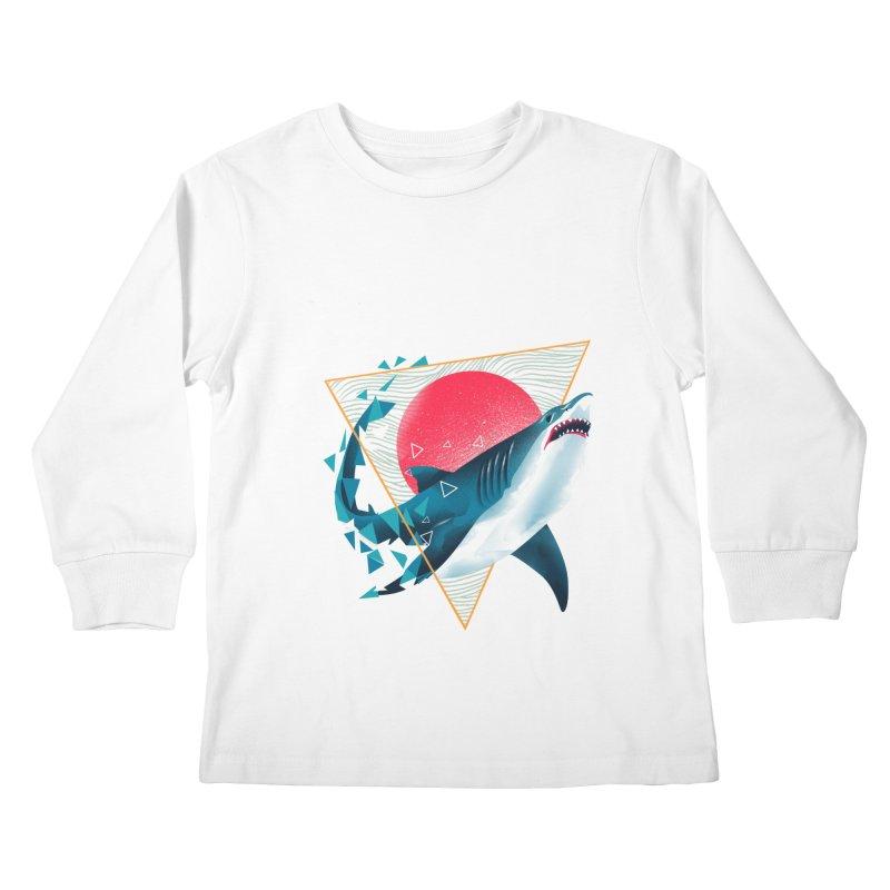 Geometric Shark Kids Longsleeve T-Shirt by dandingeroz's Artist Shop