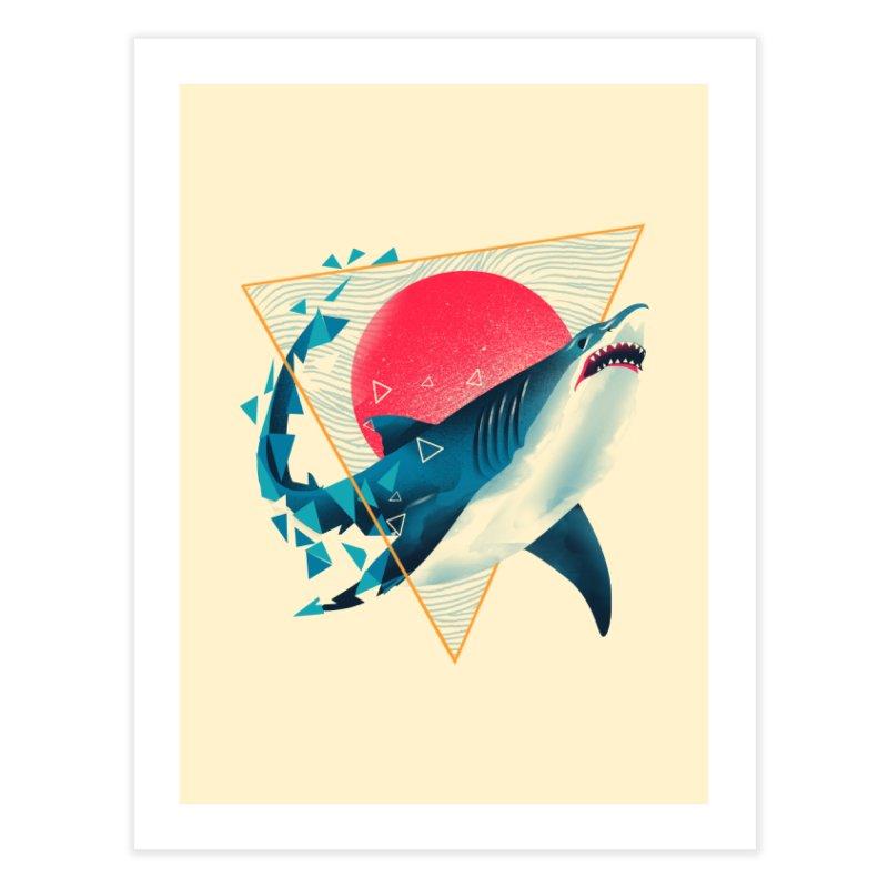 Geometric Shark Home Fine Art Print by dandingeroz's Artist Shop