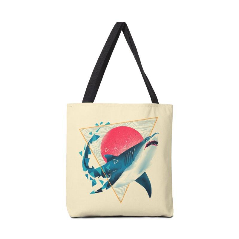 Geometric Shark Accessories Bag by dandingeroz's Artist Shop