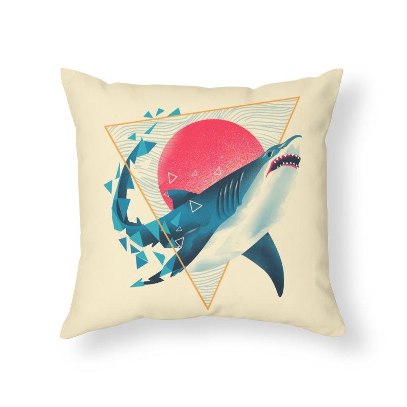 Geometric Shark Home Throw Pillow by dandingeroz's Artist Shop
