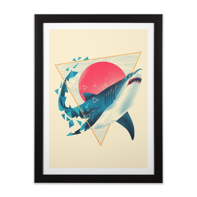 Geometric Shark Home Framed Fine Art Print by dandingeroz's Artist Shop