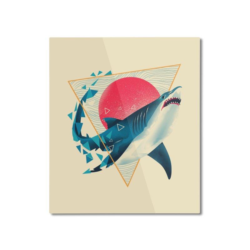 Geometric Shark Home Mounted Aluminum Print by dandingeroz's Artist Shop