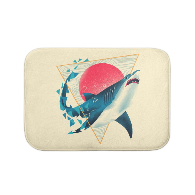 Geometric Shark Home Bath Mat by dandingeroz's Artist Shop