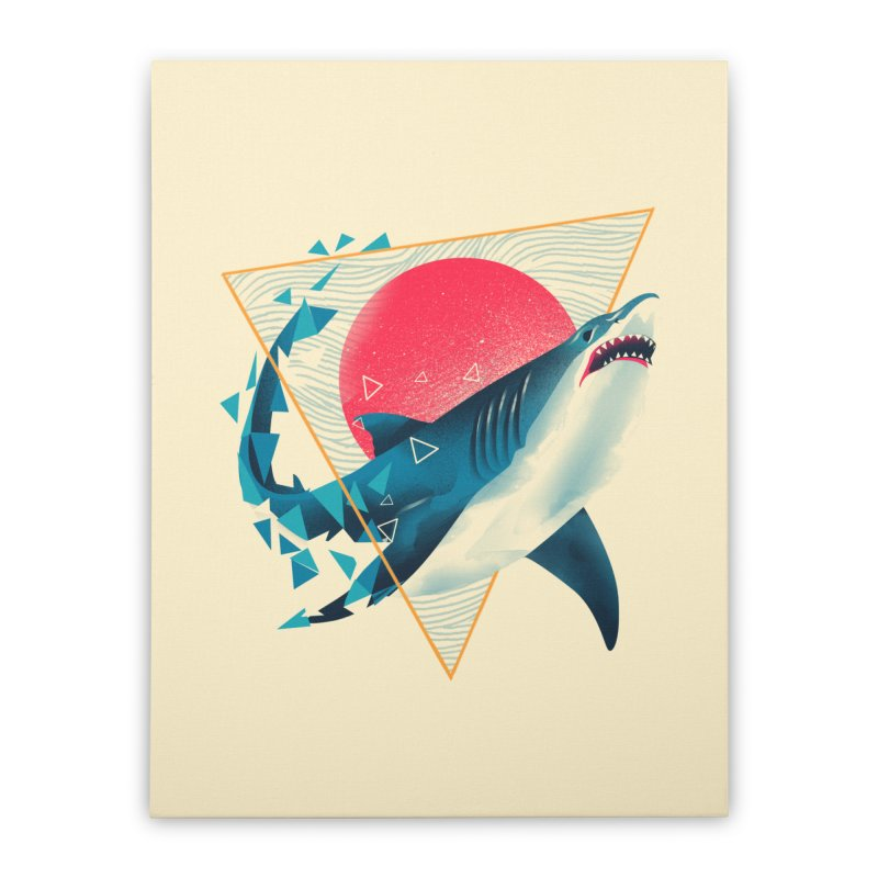 Geometric Shark Home Stretched Canvas by dandingeroz's Artist Shop