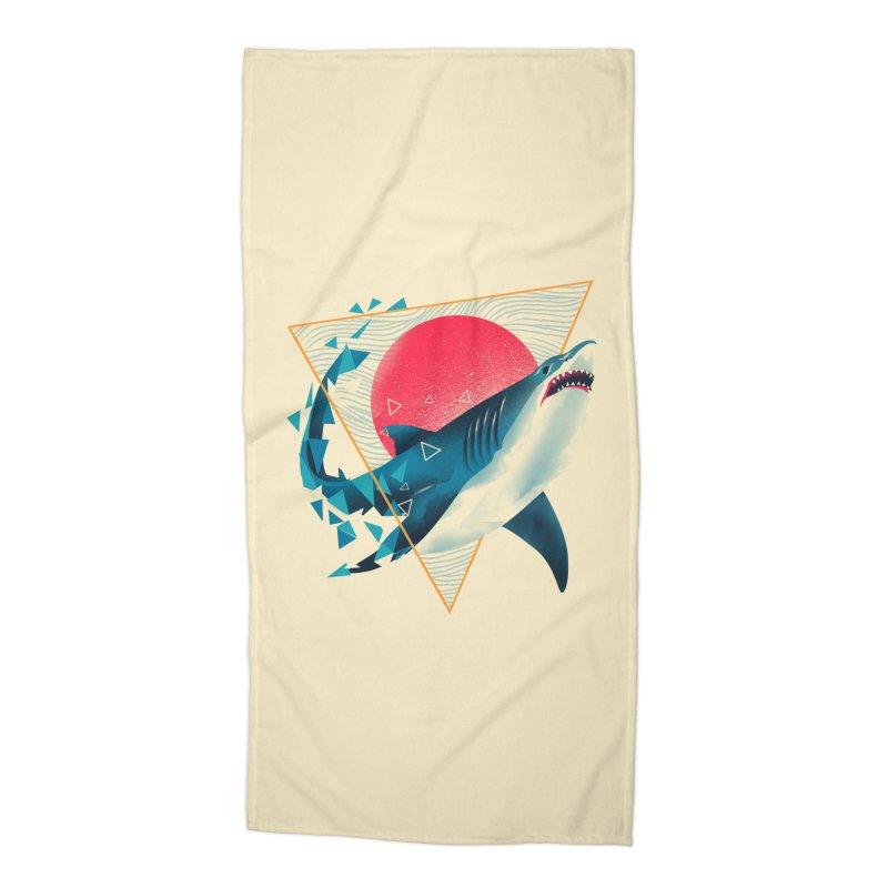 Geometric Shark Accessories Beach Towel by dandingeroz's Artist Shop