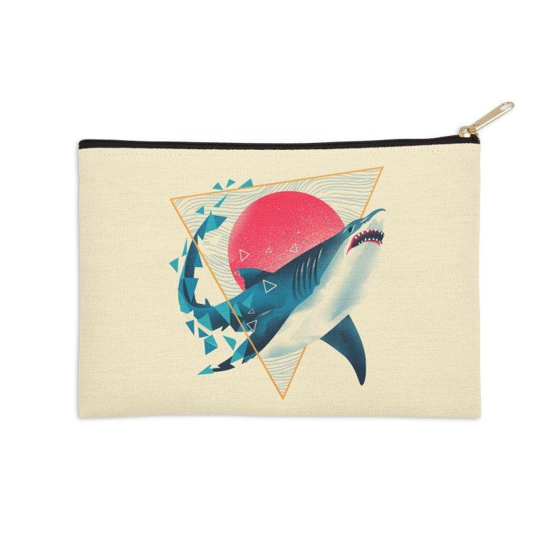 Geometric Shark Accessories Zip Pouch by dandingeroz's Artist Shop