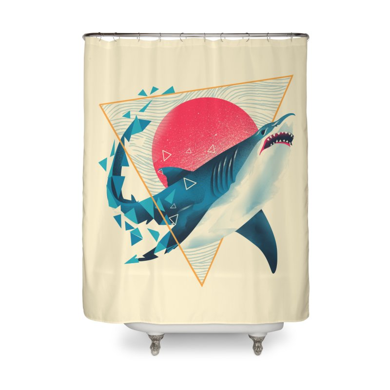 Geometric Shark Home Shower Curtain by dandingeroz's Artist Shop