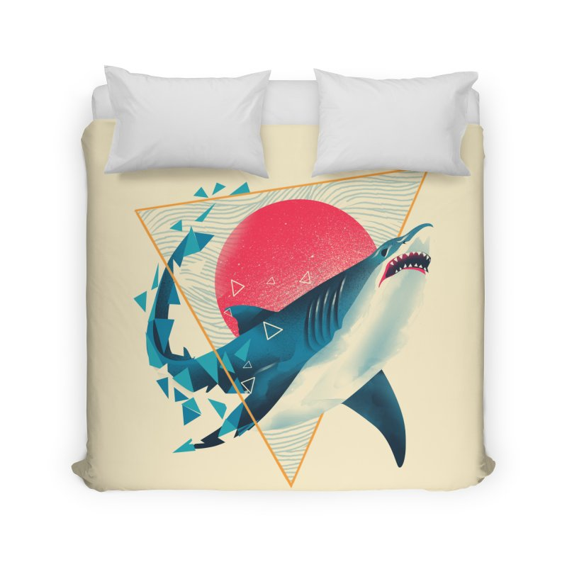 Geometric Shark Home Duvet by dandingeroz's Artist Shop