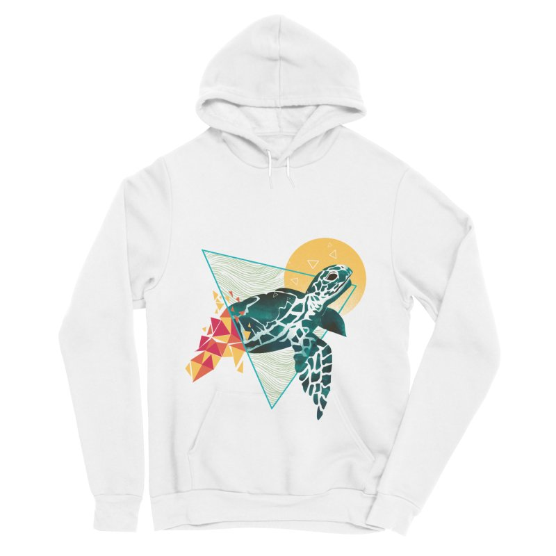 Geometric Turtle Women's Sponge Fleece Pullover Hoody by dandingeroz's Artist Shop