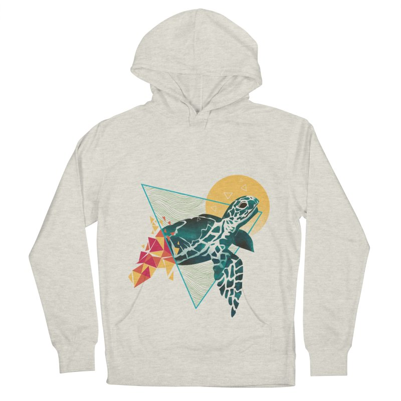 Geometric Turtle Men's French Terry Pullover Hoody by dandingeroz's Artist Shop