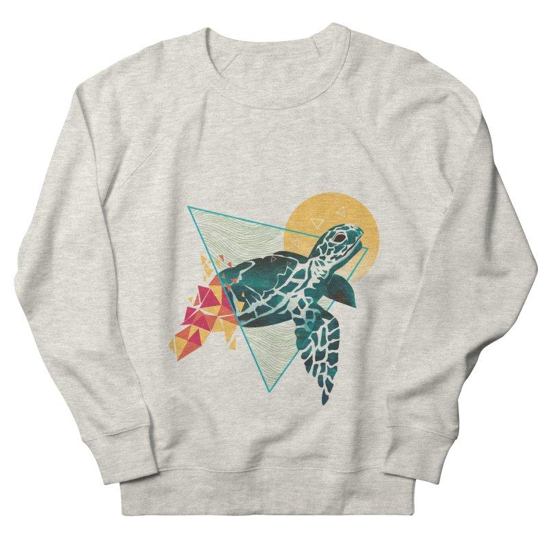 Geometric Turtle Men's French Terry Sweatshirt by dandingeroz's Artist Shop