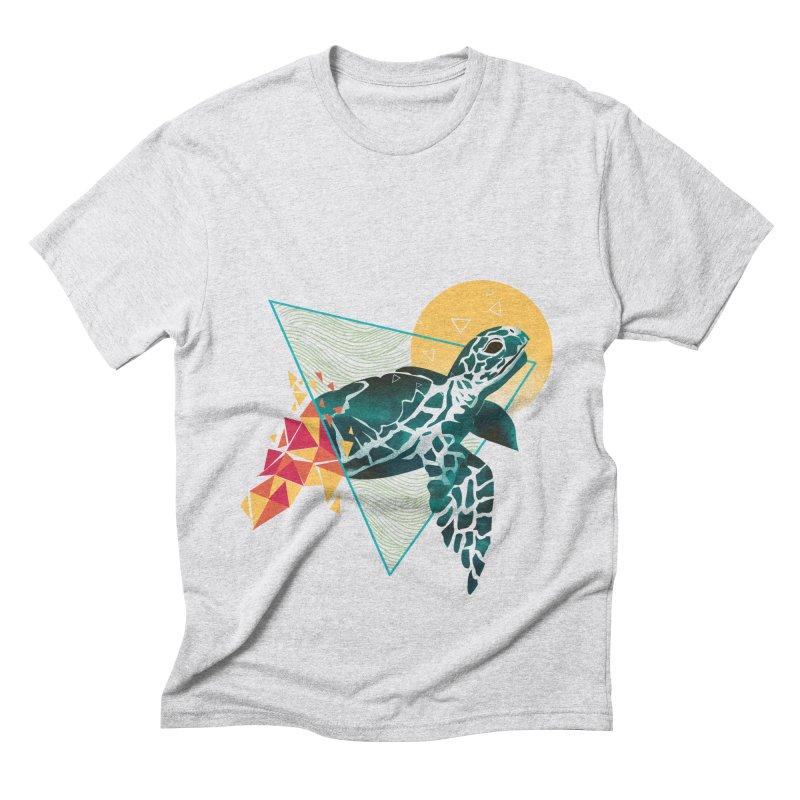 Geometric Turtle Men's Triblend T-Shirt by dandingeroz's Artist Shop