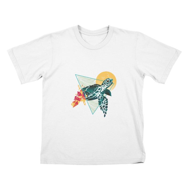 Geometric Turtle Kids Toddler T-Shirt by dandingeroz's Artist Shop