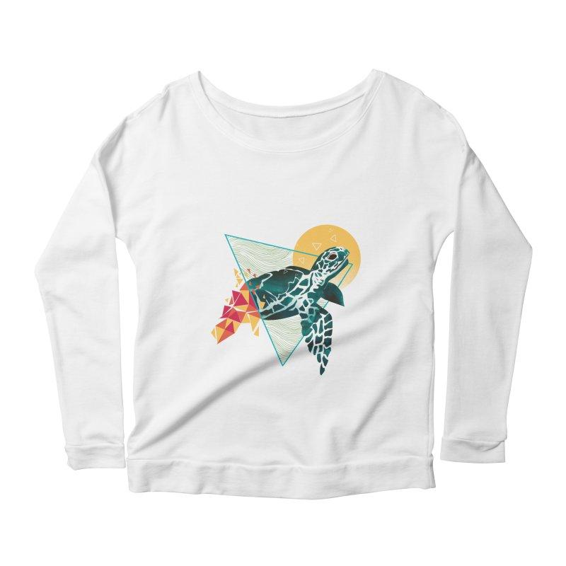 Geometric Turtle Women's Scoop Neck Longsleeve T-Shirt by dandingeroz's Artist Shop