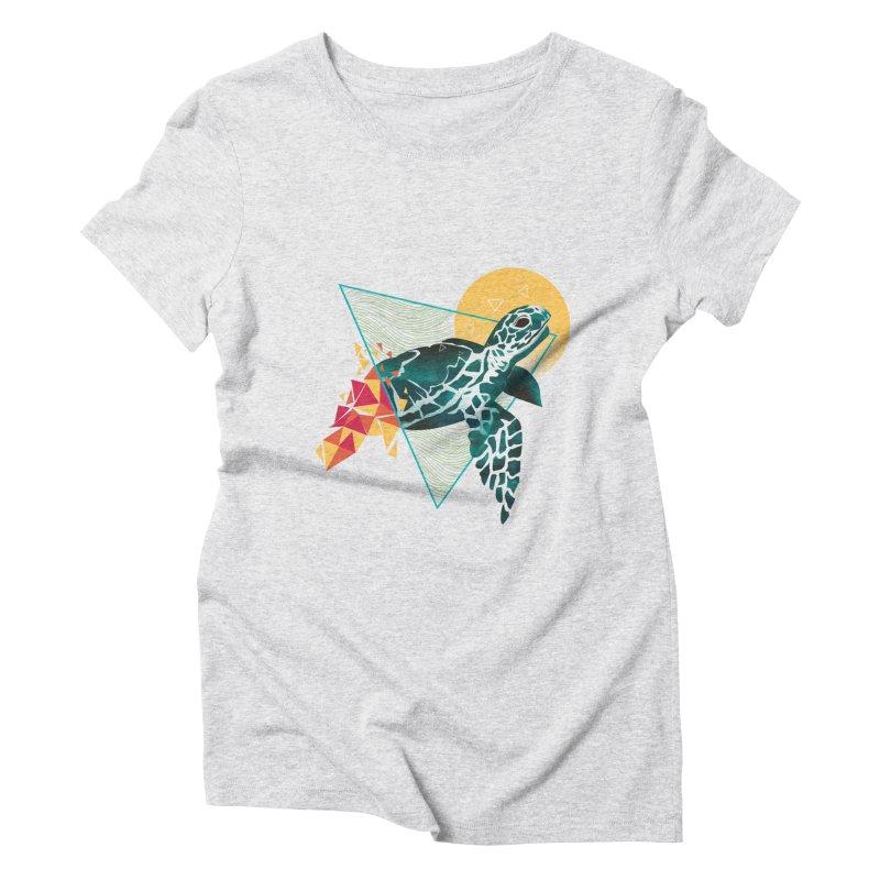 Geometric Turtle Women's Triblend T-Shirt by dandingeroz's Artist Shop