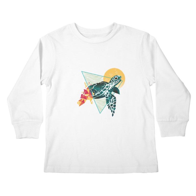 Geometric Turtle Kids Longsleeve T-Shirt by dandingeroz's Artist Shop