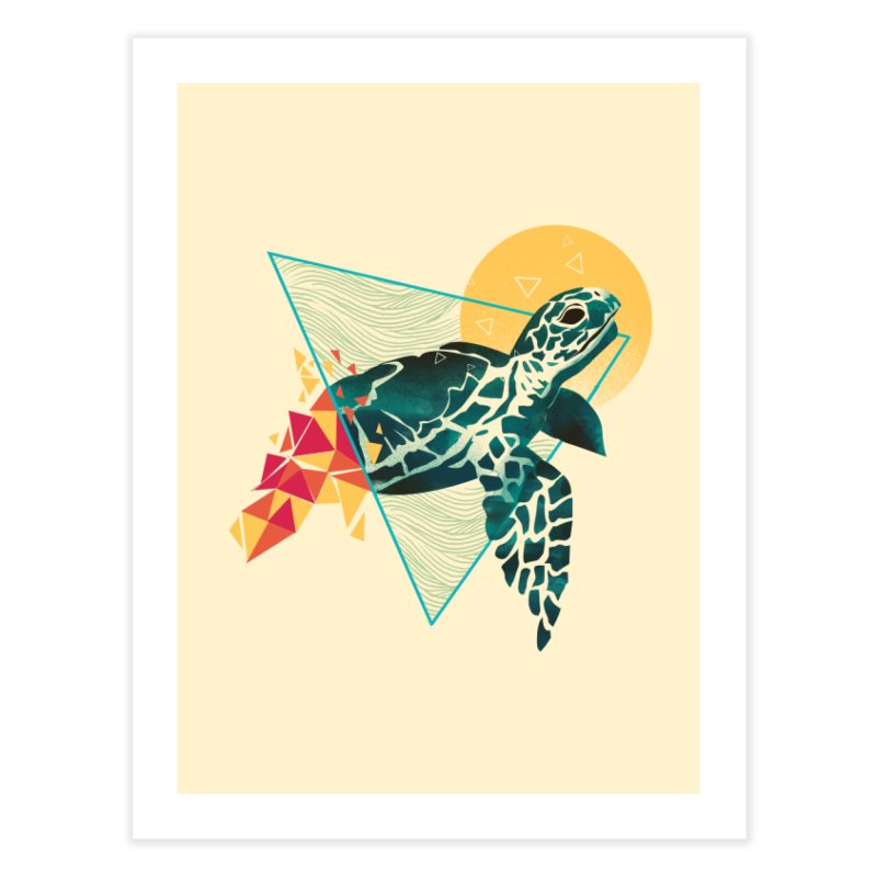 Geometric Turtle Home Fine Art Print by dandingeroz's Artist Shop