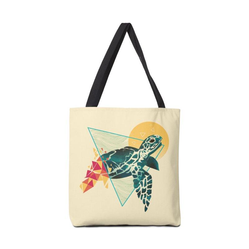 Geometric Turtle Accessories Bag by dandingeroz's Artist Shop
