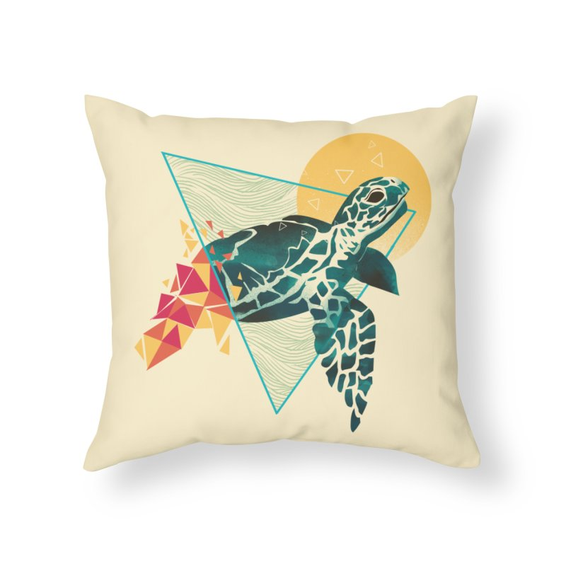 Geometric Turtle Home Throw Pillow by dandingeroz's Artist Shop