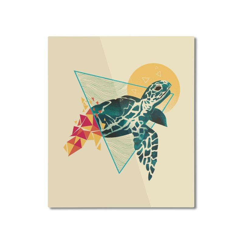 Geometric Turtle Home Mounted Aluminum Print by dandingeroz's Artist Shop