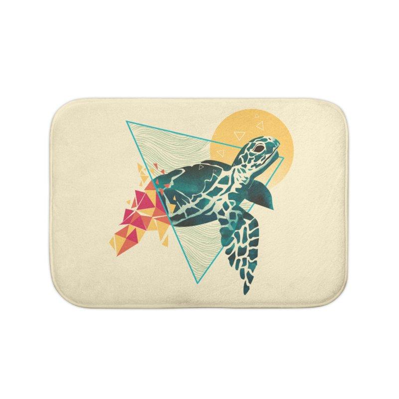 Geometric Turtle Home Bath Mat by dandingeroz's Artist Shop