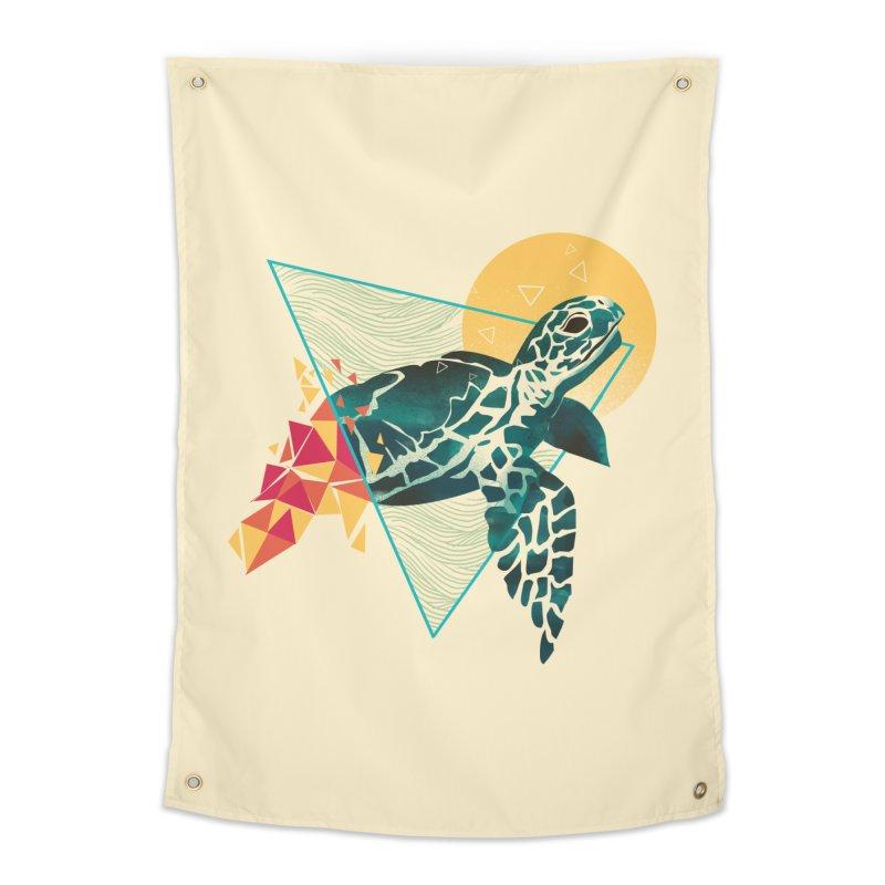 Geometric Turtle Home Tapestry by dandingeroz's Artist Shop