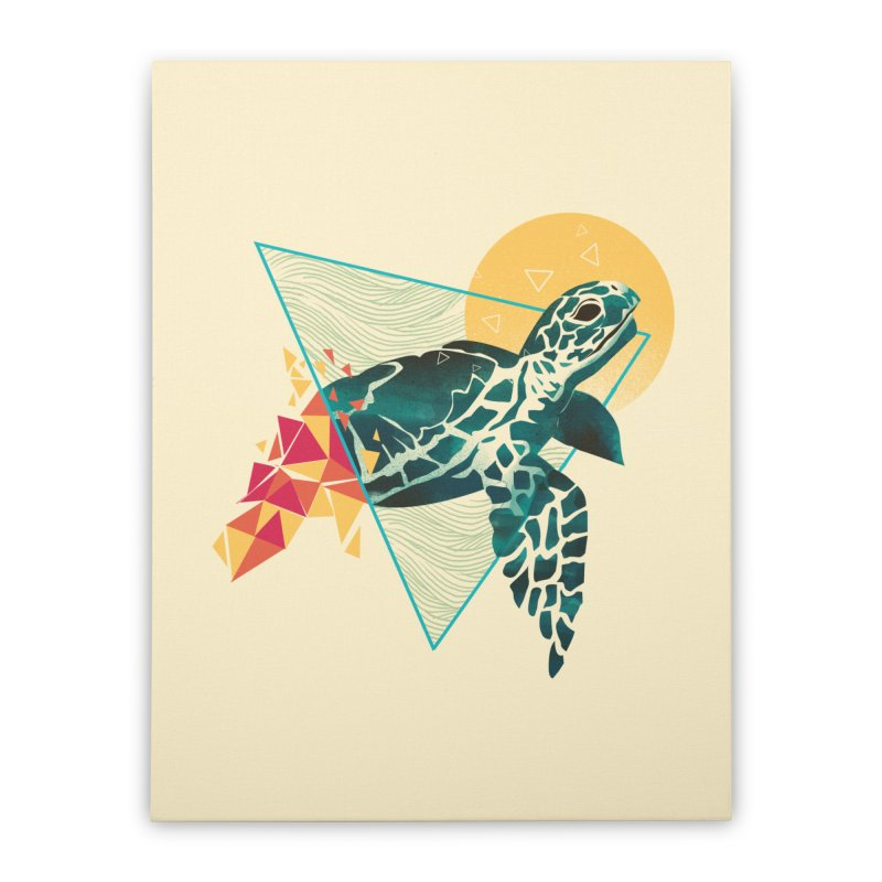 Geometric Turtle Home Stretched Canvas by dandingeroz's Artist Shop