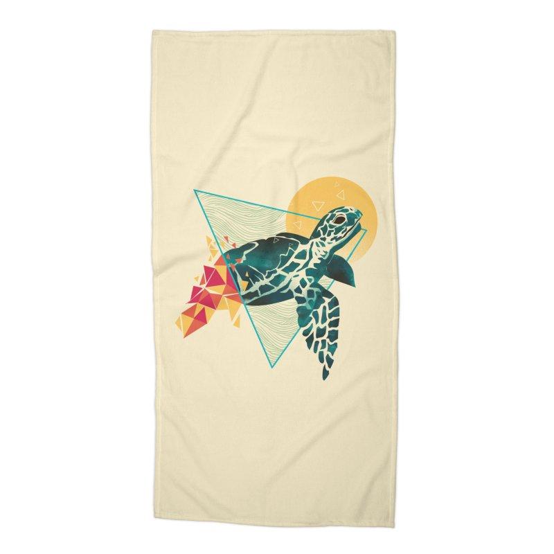 Geometric Turtle Accessories Beach Towel by dandingeroz's Artist Shop