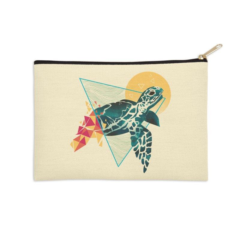 Geometric Turtle Accessories Zip Pouch by dandingeroz's Artist Shop