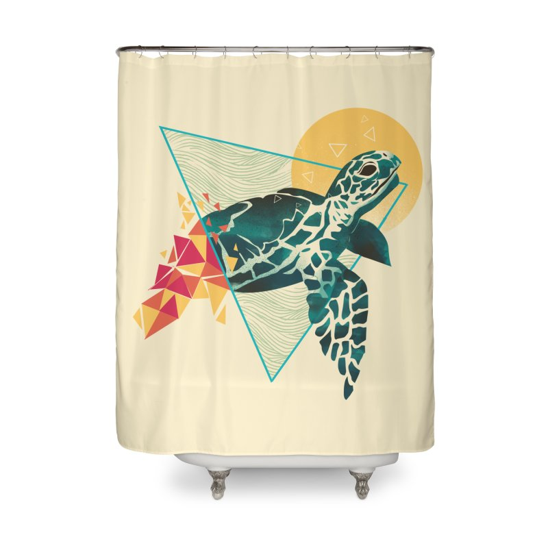 Geometric Turtle Home Shower Curtain by dandingeroz's Artist Shop