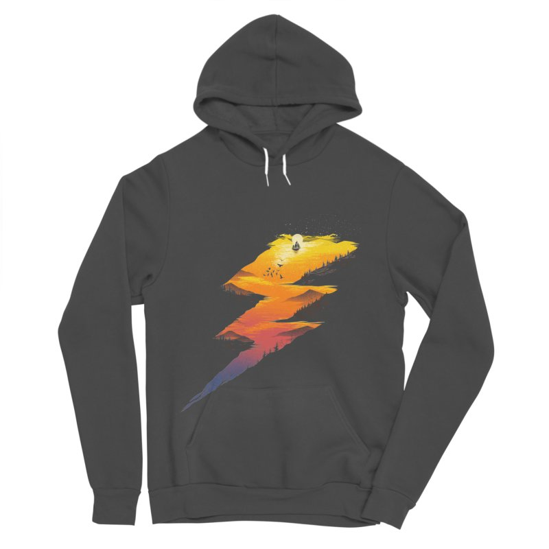 Beautiful Thunder Women's Sponge Fleece Pullover Hoody by dandingeroz's Artist Shop
