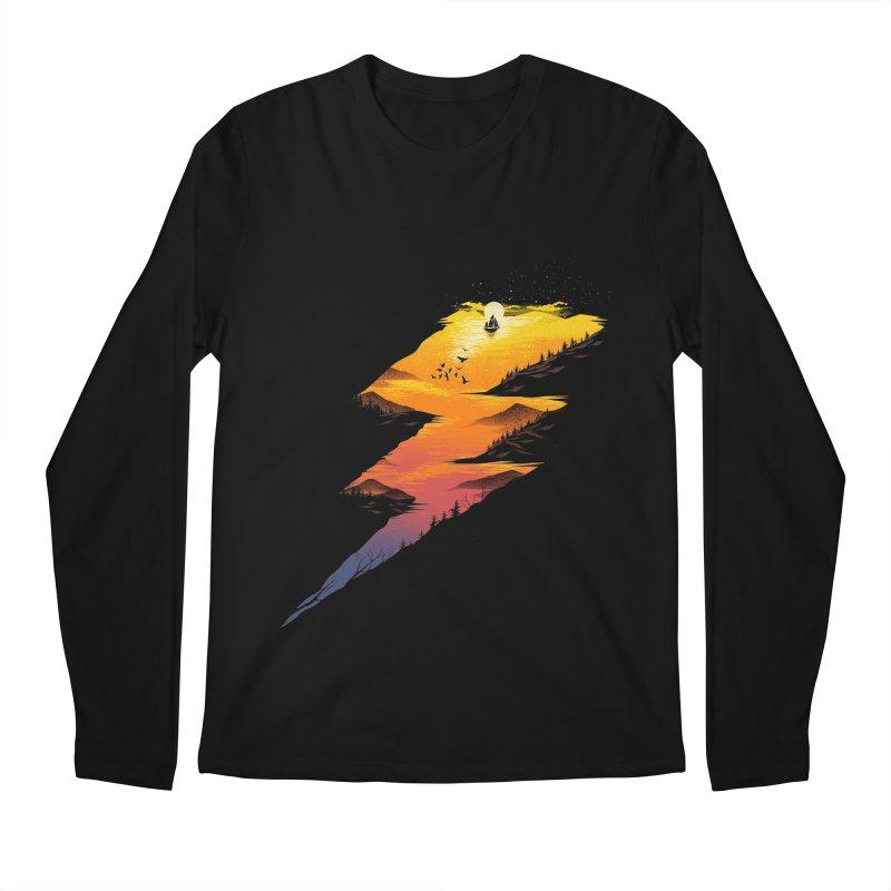 Beautiful Thunder Men's Regular Longsleeve T-Shirt by dandingeroz's Artist Shop
