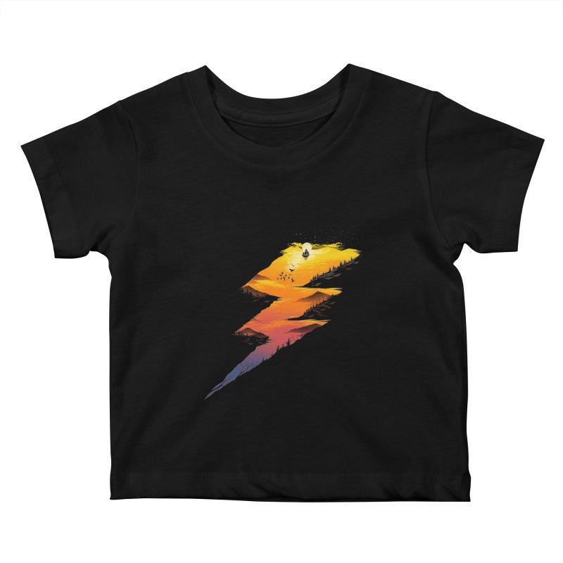 Beautiful Thunder Kids Baby T-Shirt by dandingeroz's Artist Shop