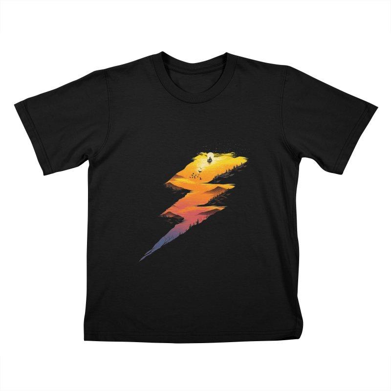 Beautiful Thunder Kids T-Shirt by dandingeroz's Artist Shop