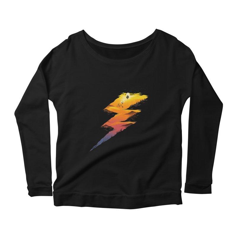 Beautiful Thunder Women's Scoop Neck Longsleeve T-Shirt by dandingeroz's Artist Shop