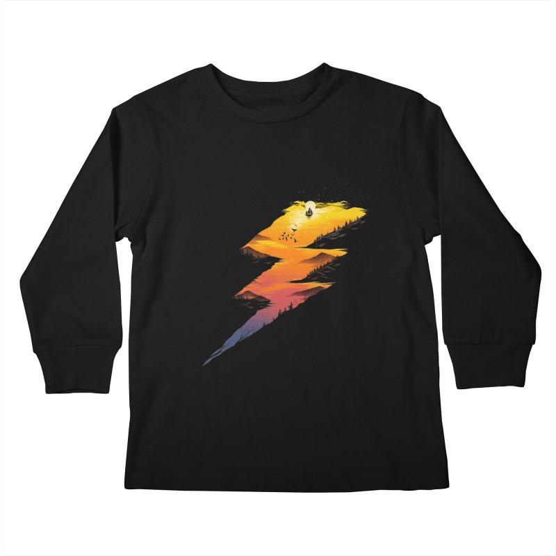 Beautiful Thunder Kids Longsleeve T-Shirt by dandingeroz's Artist Shop