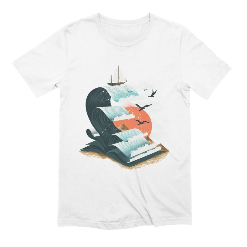 Waves of Knowledge in Men's Extra Soft T-Shirt White by dandingeroz's Artist Shop