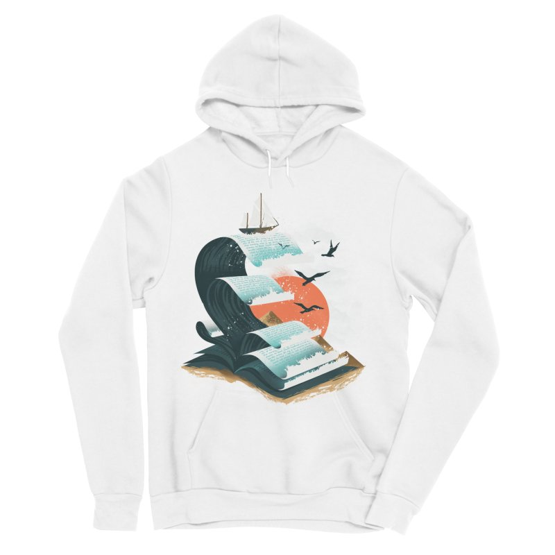 Waves of Knowledge Women's Sponge Fleece Pullover Hoody by dandingeroz's Artist Shop