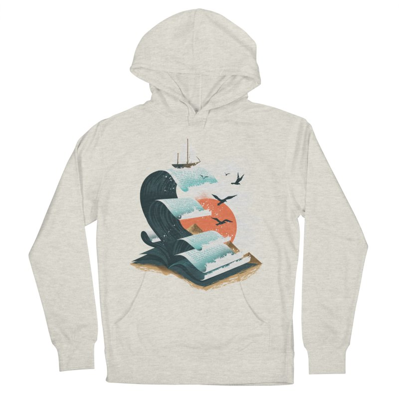 Waves of Knowledge Women's French Terry Pullover Hoody by dandingeroz's Artist Shop