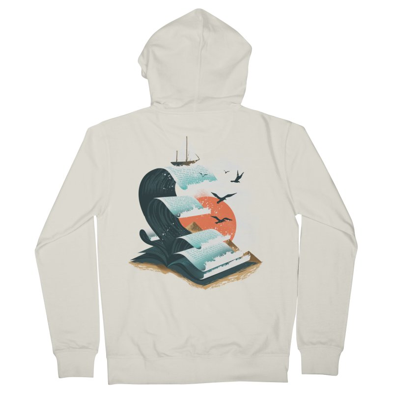 Waves of Knowledge Women's French Terry Zip-Up Hoody by dandingeroz's Artist Shop