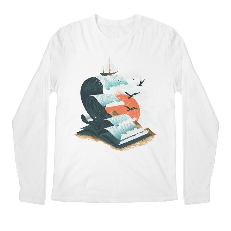 Waves of Knowledge Men's Regular Longsleeve T-Shirt by dandingeroz's Artist Shop