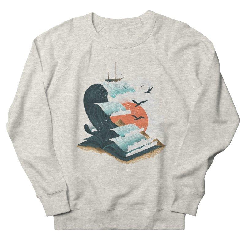 Waves of Knowledge Men's French Terry Sweatshirt by dandingeroz's Artist Shop