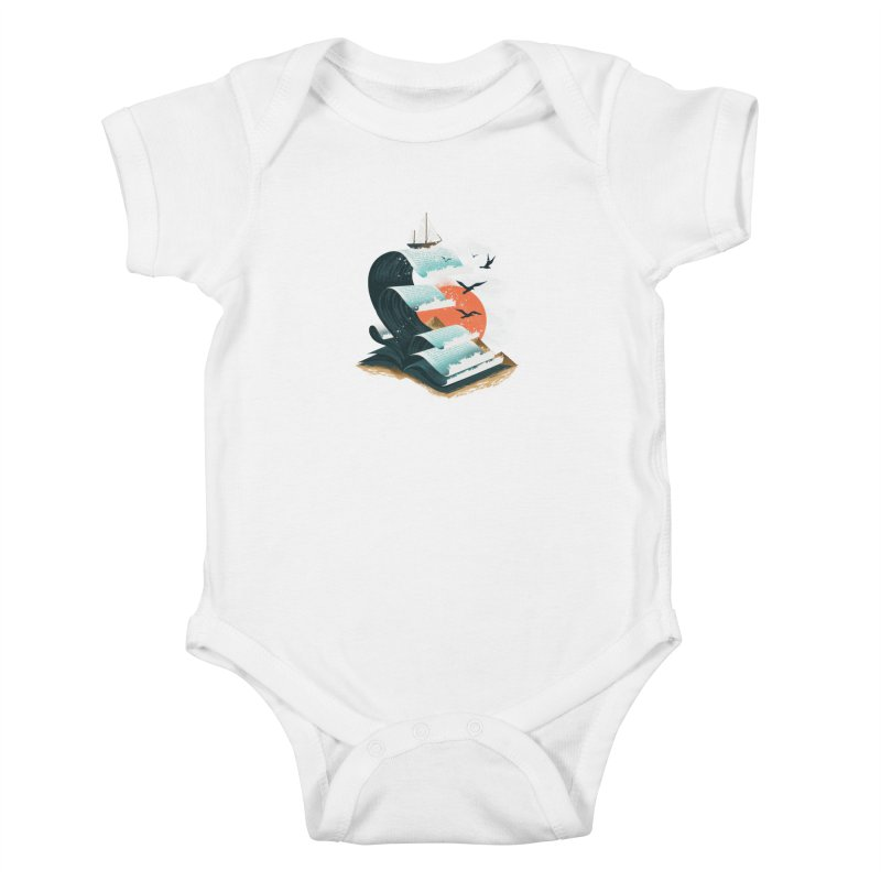 Waves of Knowledge Kids Baby Bodysuit by dandingeroz's Artist Shop